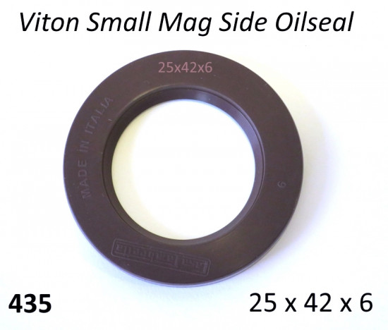 Viton oilseal 25 x 42 x 6 for crankshaft bearing flywheel side Lambretta S1 + S2 + TV2 + S3 +TV3 + Special + SX + DL + Serveta