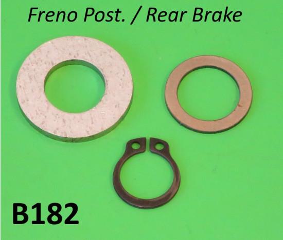 Rear brake pedal fixing kit for all post. '57 Lambretta models