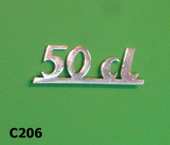 Legshield badge '50 CL'