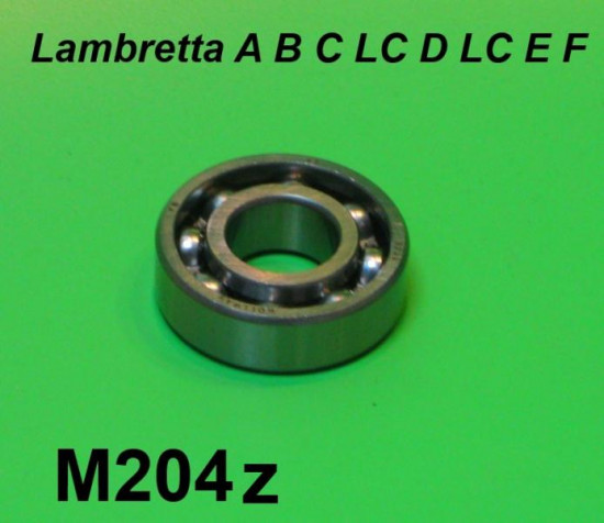 High quality crankshaft main bearing (6203) Lambretta A + B + C + LC + D + LD + E + F