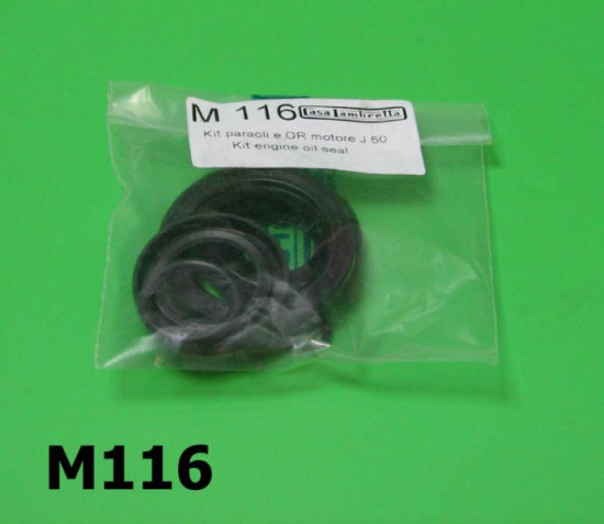 Complete oilseal + O ring set for 3 speed Lambretta 50cc models