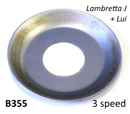 Special front sprocket dished washer for Lambretta J + Lui (3 speed models)