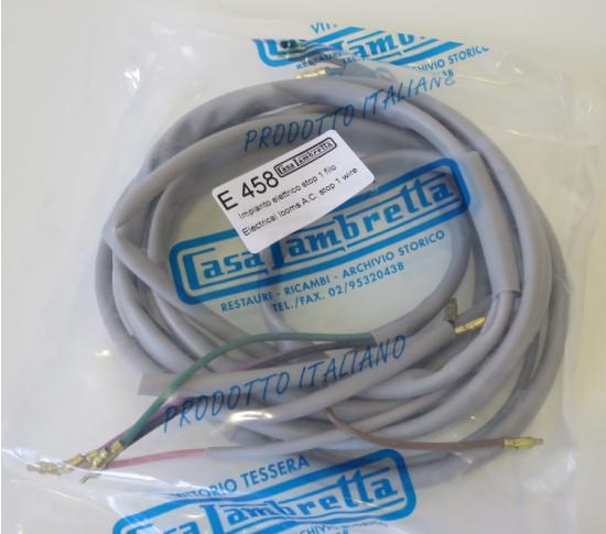 NEW CASA ITEM! Wiring loom for Lambretta S2 Li125 1961 (AC / NON batt. /1 wire stoplight).