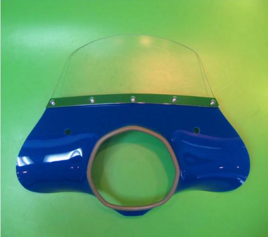 Blue 'Classic' model flyscreen for Lambretta SX+ TV+ GT+ Special +Serveta (+ bracket set)