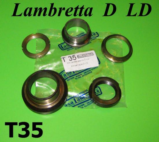 Steering race set for Lambretta D + LD models