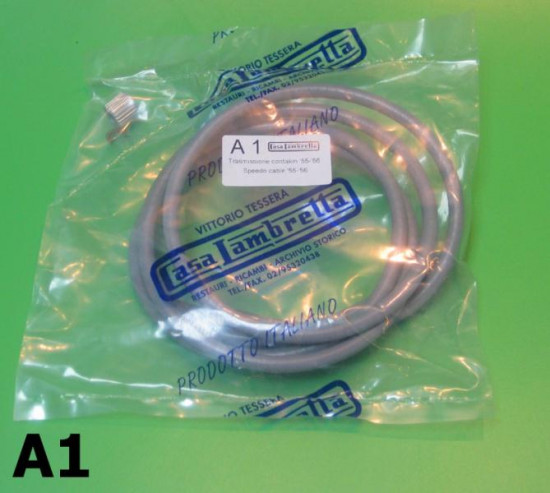 Complete speedo cable (inside legshield mounting ) Lambretta D + LD