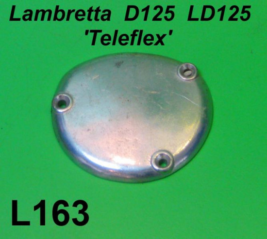 Cover for gear selector box (on engine) Teleflex type for Lambretta D125 + LD125
