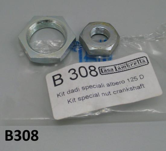 2 x special nuts for crankshaft + clutch bevel gears