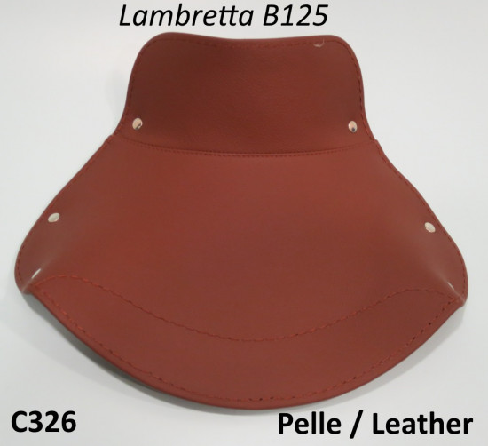 Brown front seat cover in REAL LEATHER for Lambretta B