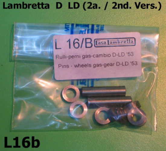 Handlebar Teleflex  gearchange & throttle control pins and rollers set