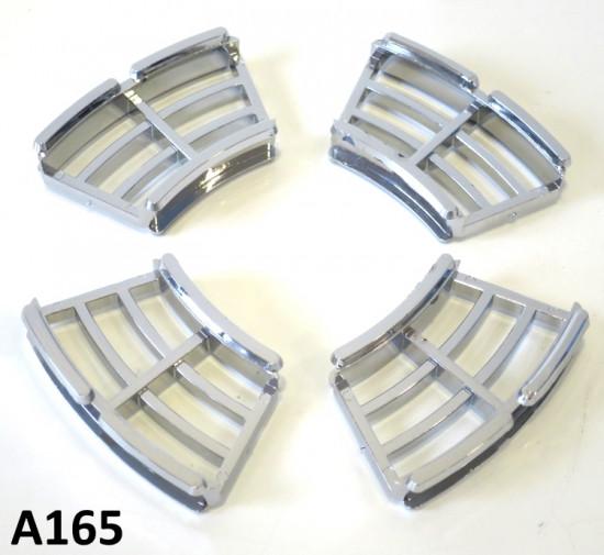 Kit griglie freno a disco cromate (set 4 pzi.) Lambretta 175 + 200