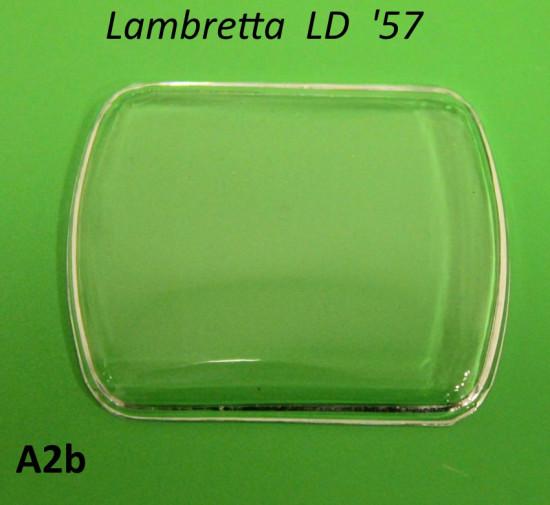 Rectangular speedo glass Lambretta LD150 '57