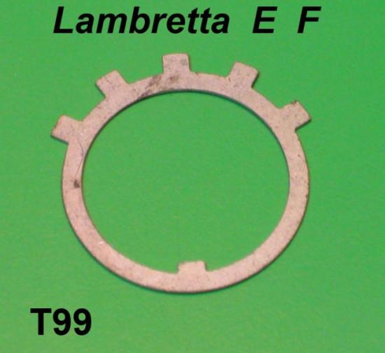 Left hand side rear suspension tab lock washer Lambretta E F