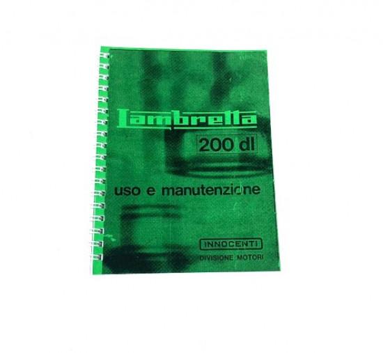 Owners manual Lambretta DL200 (GP200)