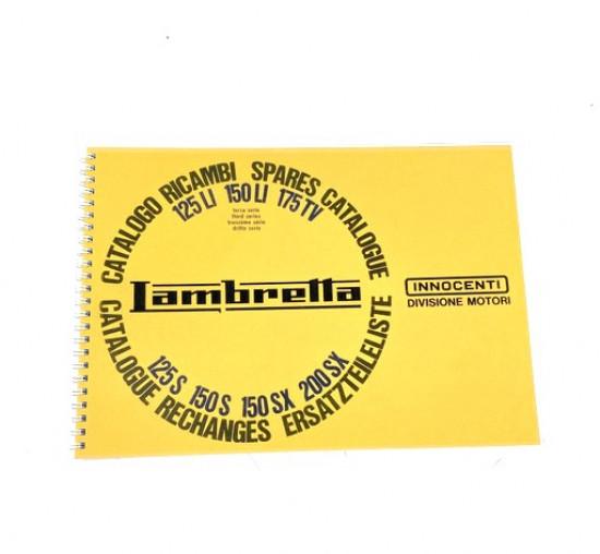 Complete parts catalogue Lambretta S3 LI TV GT SX Special
