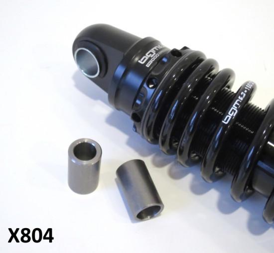 Pair of reduction bushes to convert S3 BGM rear shock absorber for Lambretta Lui Vega Cometa