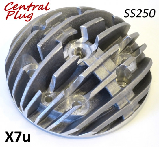 Casa Performance 'Radiale' finned cylinder head for SS250 conversion with CENTRAL spark plug