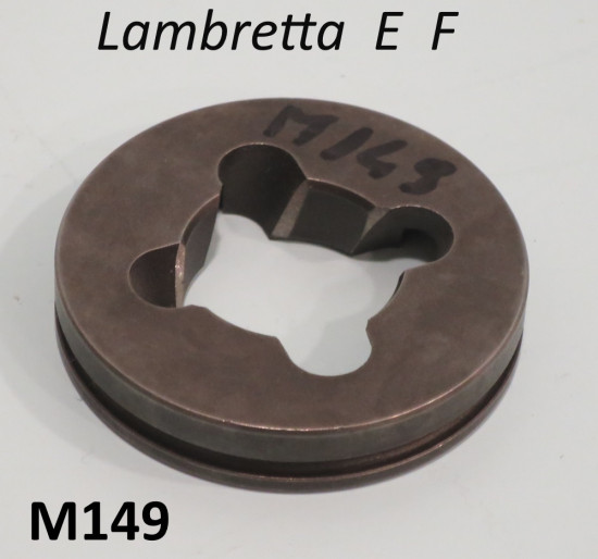 Special grooved disc for starting mechanism for Lambretta E F