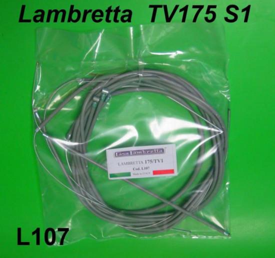 Complete nylon lined cable set Lambretta TV175 S1