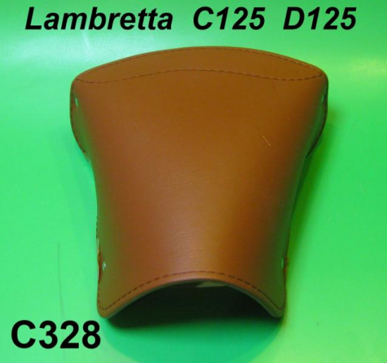 Brown rear seat cover - Square type - Lambretta C125 + D125 (Vers. 1)