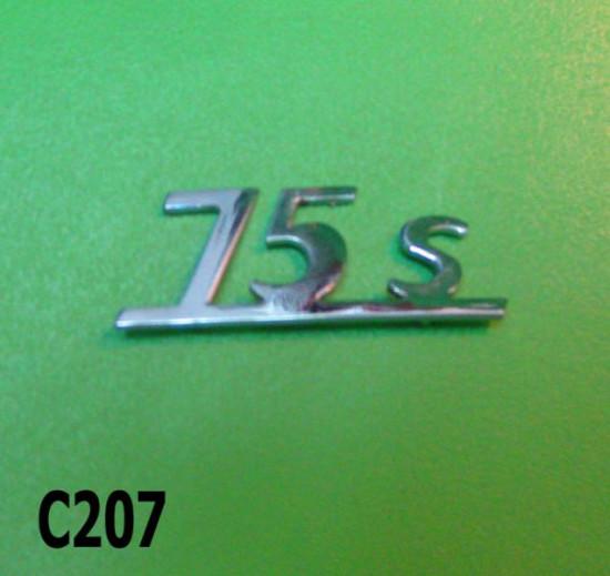Legshield badge '75S' for Lambretta Lui Vega 75cc