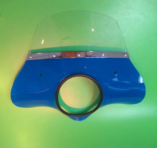 Blue 'Classic' model flyscreen for Lambretta LI S2 + S3 (complete with bracket set)