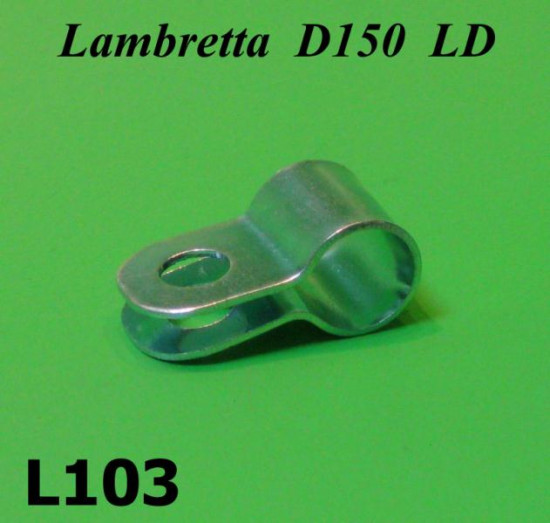 Rear brake cable guide clamp (on engine) Lambretta D LD