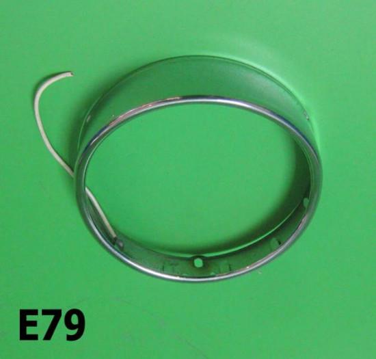 Chrome headlamp rim J50 Cento J125 M3