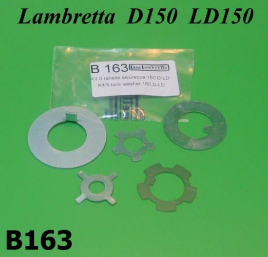 Engine nut secure washers Lambretta D + LD