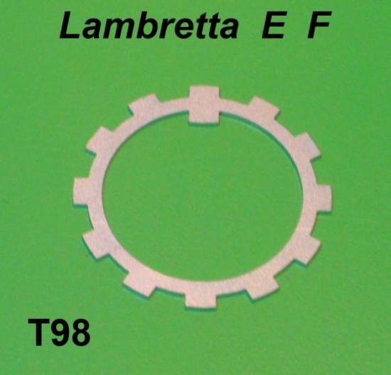 Right hand side rear suspension tab lock washer Lambretta E F