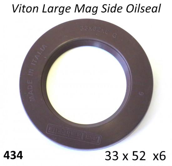 Viton Oilseal 33 x 52 x 6 crankshaft flywheel side Lambretta S1 + S2 + TV2 + S3 +TV3 + Special + SX + DL + Serveta