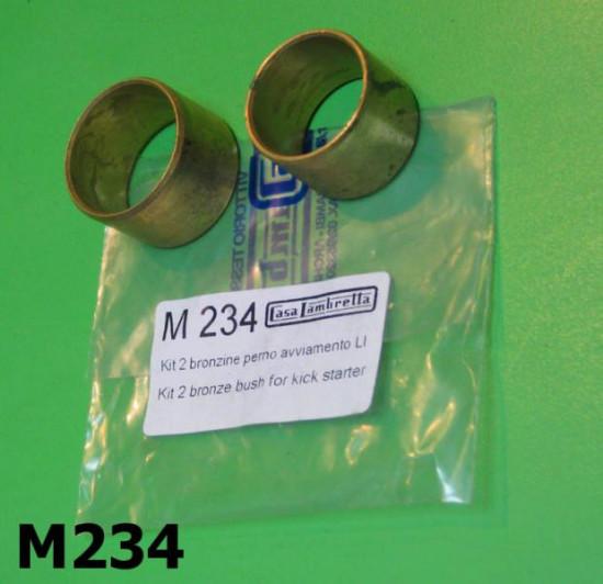 Kickstart shaft bronze bushes Lambretta S1 + S2 + S3 + SX + DL / GP