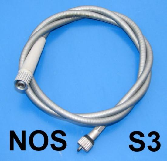 Original Innocenti NOS complete speedo cable Lambretta S3 (large-head type inner cable)