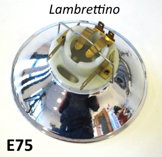Headlight reflector + bulb holder Lambrettino 48