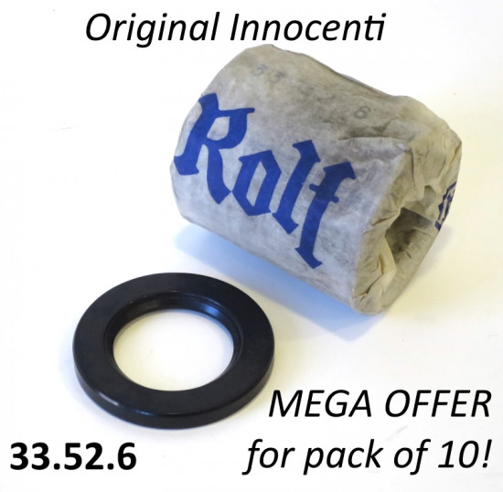 Pack of 10 x original NOS Rolf 33-52-6 large magneto flange oilseals Lambretta S1 + S2 + TV2 + S3 + TV3 + Special + SX +DL + Serveta