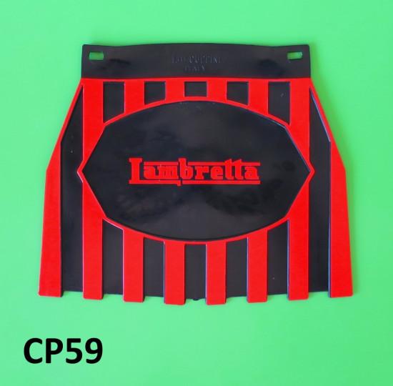Black + red Lambretta rear mudflap