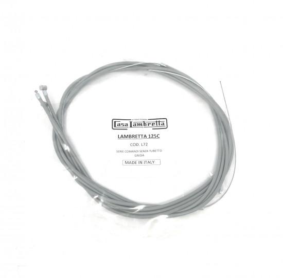 Complete cable set Lambretta C + LC