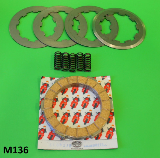 Complete Surflex 4 plate clutch (corks + steels + springs)