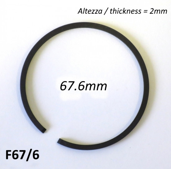 67.6mm (2.0mm thick) high quality original type piston ring