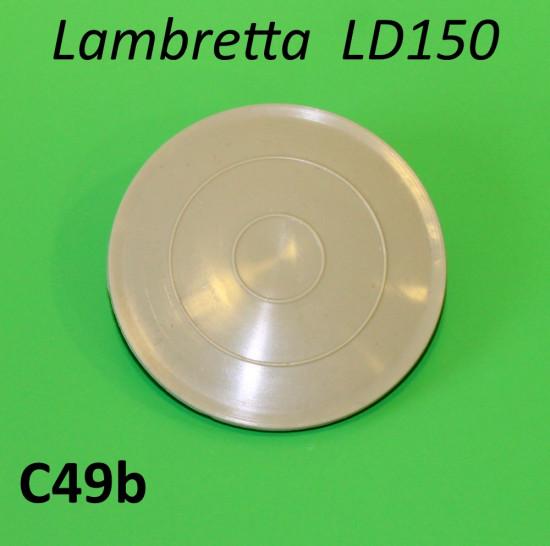 Plastic blanking disc for inside legshield toolbox Lambretta LD150