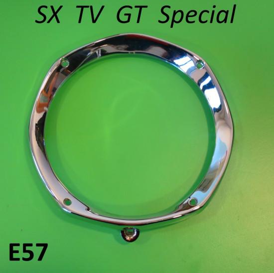 Chrome front headlamp rim for Lambretta SX TV GT Special