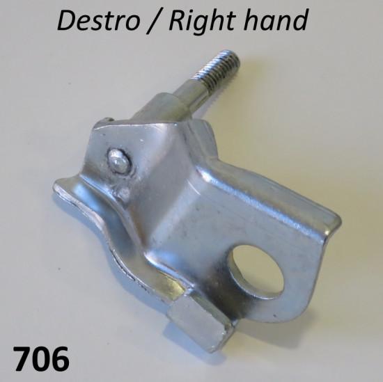 Attacco DESTRO (lato messo in moto) per ammortizzatore supplementari anteriori