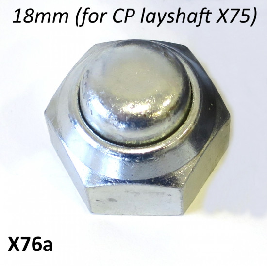 Special rear hub nut (with18mm internal thread) for use with multi-splined layshaft X75