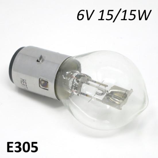 6V 15/15W headlight bulb for Lambretta E + F