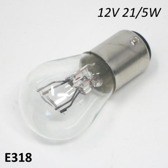 12V 21/5W rear light bulb (for 12V ignitions)
