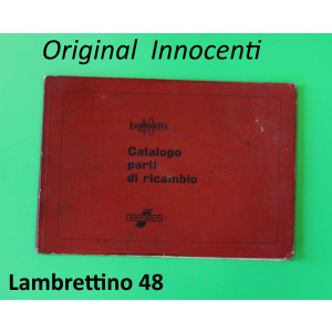 Original Innocenti spare parts catalogue for Lambrettino 48 mopeds