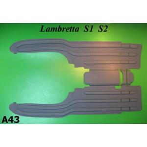 Grey rubber mats Lambretta S1 + S2