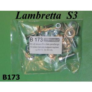Mudguard + legshield + horncast screw set Lambretta S3 + SX + DL/GP