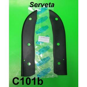 Mudguard/Legshield Black rubbers Lambretta S3 + Serveta