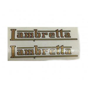 'Lambretta' petrol tank stickers Lambretta C + D + E + F